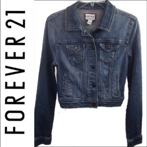🌸 Forever 21 Denim Jean Jacket large